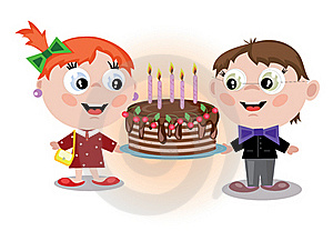 Children With Pie Stock Images - Image: 17747534