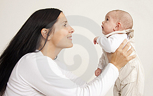 Mother And Baby Boy Portrait Royalty Free Stock Photos - Image: 17747878