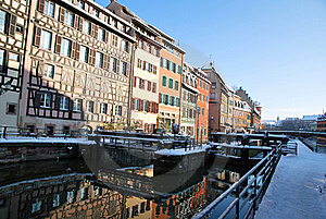 Reflections Of Strasbourg During Winter Royalty Free Stock Photography - Image: 17748897