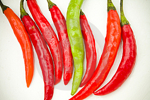 Red And Green Spicy Chili Peppers Stock Photo - Image: 17749060
