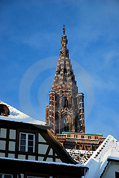 Basilica Of Strasbourg During Winter Royalty Free Stock Images - Image: 17750639