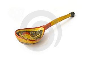 Wooden Hohloma Spoon Stock Photo - Image: 17752930