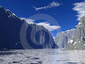 Icy Lake Royalty Free Stock Photos - Image: 17753068