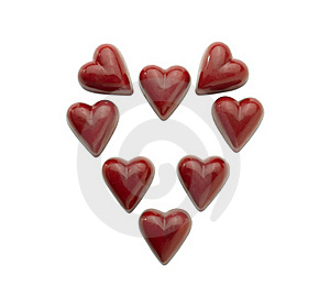 Heart-shaped Praline (clipping Path) Stock Images - Image: 17753514