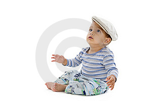 Cute Little Boy With Cap Royalty Free Stock Image - Image: 17754346