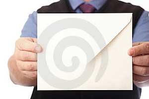 Blank Envelop In A Hand Stock Photo - Image: 17754410