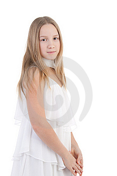The Girl In A White Dress Stock Photography - Image: 17755772