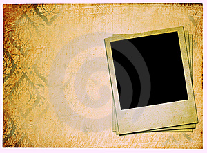Photoframe On Vintage Paper Royalty Free Stock Photo - Image: 17756035