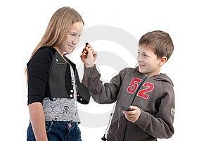 Children Listen To Music Stock Photo - Image: 17756250