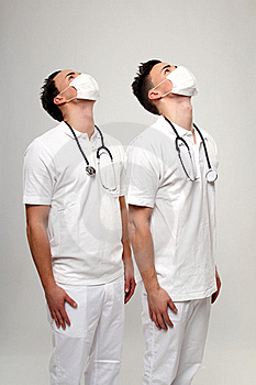 Twin Doctors Royalty Free Stock Photography - Image: 17757137