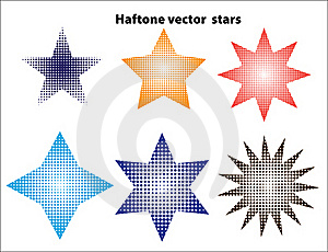 Halftone Stars Royalty Free Stock Photo - Image: 17757575