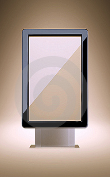 Stand For Advertisement. Stock Image - Image: 17760101