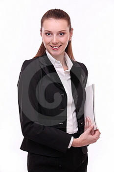 Portrait Of Positive Young Business Woman. Stock Photography - Image: 17761192