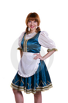German/Bavarian Woman Stock Photography - Image: 17762832