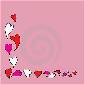 Hearts Frame For Love Season Stock Images - Image: 17763284