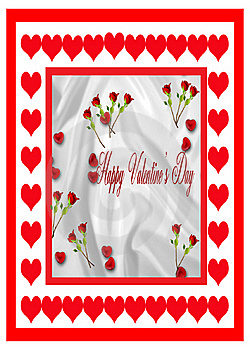 Red Roses Valentine Card Stock Photos - Image: 17765663