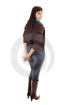 Girl In Jeans. Royalty Free Stock Images - Image: 17765789
