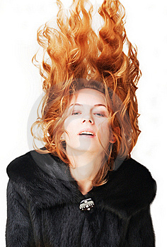 Woman In A Fur Coat Stock Photo - Image: 17766440