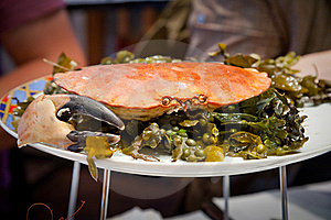 Crab On Plate Stock Images - Image: 17766454