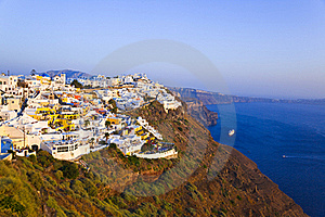 Santorini Sunset - Greece Stock Image - Image: 17766631