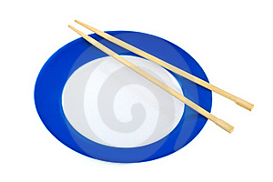 Plate And Chopsticks Stock Images - Image: 17766674