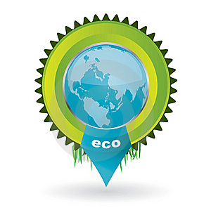 Vector Environmental Emblem With The Globe In It Stock Image - Image: 17770851