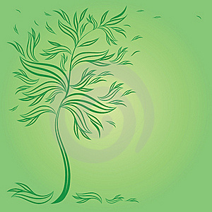 Design With Decorative Tree From Leafs Royalty Free Stock Photos - Image: 17772508