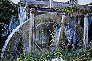 Frozen Water Wheel Royalty Free Stock Photos - Image: 17772988