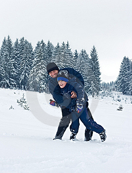 Father And His Son Playing Outside Royalty Free Stock Photos - Image: 17777368