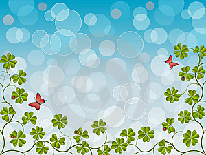 Floral Background With A Clover Stock Image - Image: 17780271