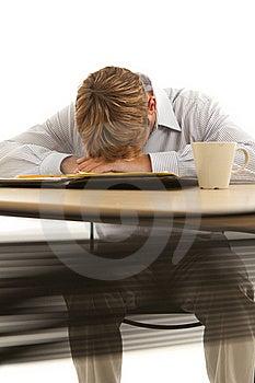 Businessman Sleeping At Desk Stock Photography - Image: 17780352