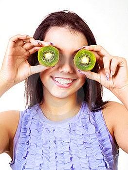Girl Holding Kiwi Royalty Free Stock Photography - Image: 17781537