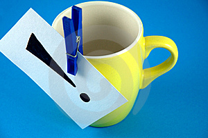 An Exclamation Mark On The Cup Stock Photo - Image: 17783010