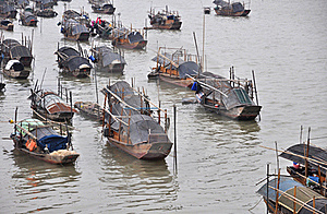 Wooden Boats In The Bay Stock Photography - Image: 17785512