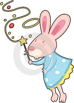 Rabbit With Magic Stick Royalty Free Stock Photo - Image: 17786905