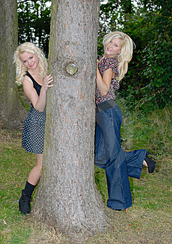 Two Pertty Blonde Females Royalty Free Stock Photography - Image: 17787007