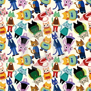 Seamless Cat Pattern Stock Images - Image: 17788604