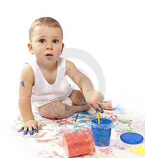 Pretty Baby Paint Royalty Free Stock Photo - Image: 17790085