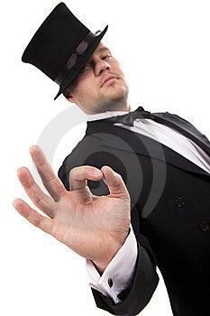 Magician Making 'ok' Gesture Stock Photos - Image: 17790633