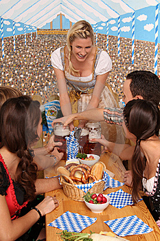Bavarian Group With Beer Stock Images - Image: 17791604