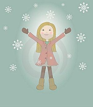 Little Joyful Girl Royalty Free Stock Image - Image: 17791656