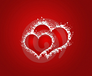 Two Sweethearts In Red Background Royalty Free Stock Photo - Image: 17792805