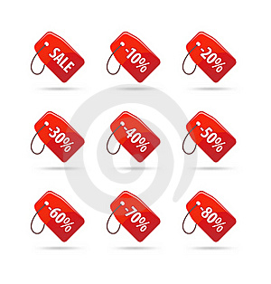 Sale Tags Royalty Free Stock Image - Image: 17793136