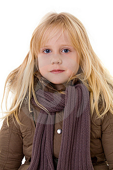 Blonde Girl - Child In Street Clothes Royalty Free Stock Image - Image: 17793266