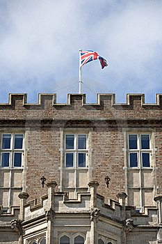 Union Jack On Brownsea Castle Royalty Free Stock Image - Image: 17793766