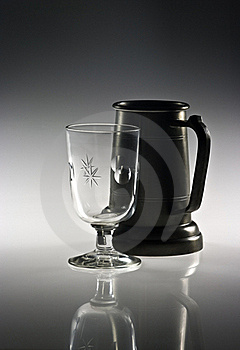 Mug And Glass Royalty Free Stock Images - Image: 17794119