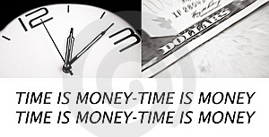 Time Is Money Royalty Free Stock Images - Image: 17796159