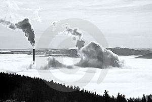 Chimney Pollution. Royalty Free Stock Photo - Image: 17796345