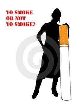 Smoking, Woman Stock Photography - Image: 17797312