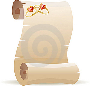 Old Scroll For Wedding Invitation Royalty Free Stock Images - Image: 17797429